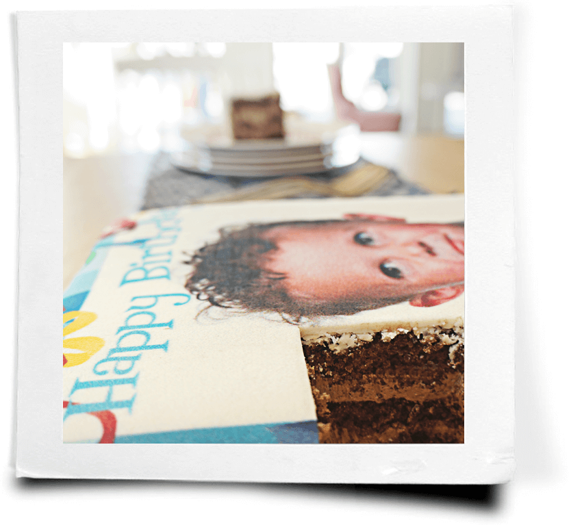 Persönliche Beschriftung der Torte