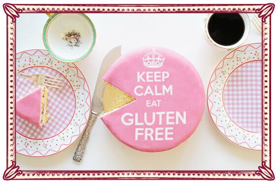 Glutenvrij Taarten - Vanille cake met framboos-vanille vulling