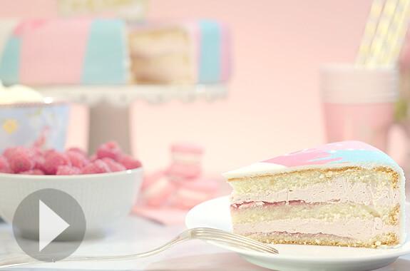 framboos-vanille taart