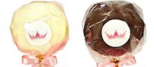 Vanille- en chocoladecake gemixt