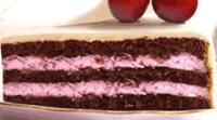Chocolade cake met kers vulling