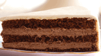 Chocolade cake met chocolade vulling