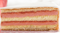 Vanille cake met framboos-vanille vulling