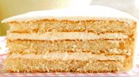 Vanille cake met citroen vulling