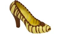 Witte schoen met bruine strepen