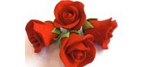 Rode suiker-rozen 18 stuks