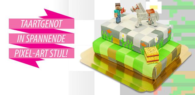 Minecraft op taarten