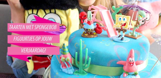 Taarten met Spongebob-figuur nu online bestellen