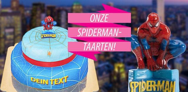 Spider-Man taarten online bestellen