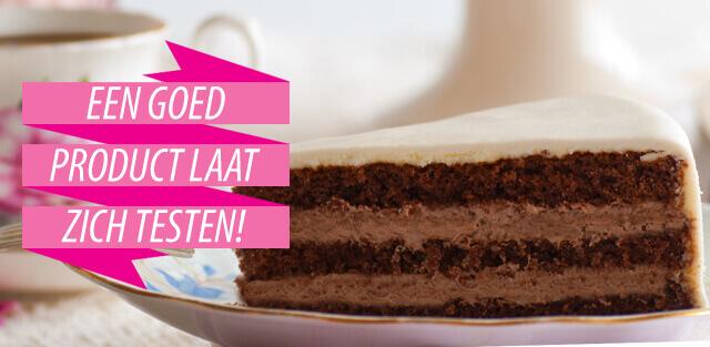 Wilt je onze taarten, cupcakes, brownies of gebakjes eerst proeven?