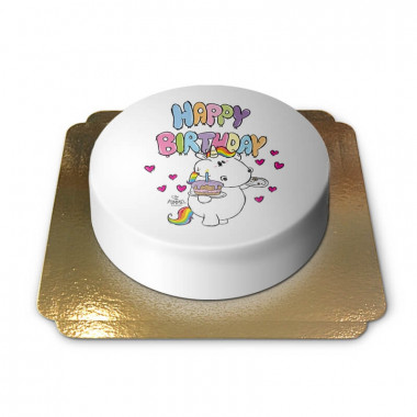 Chubby Unicorn verjaardagstaart