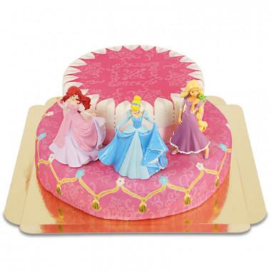 Stapeltaart (2 verdiepingen) met 3 prinsessen