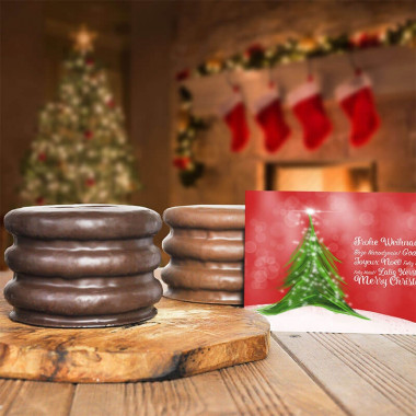 Logo Baumkuchen met Kerstkaart