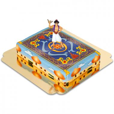 Aladdin op tapijt over Agrabah taart