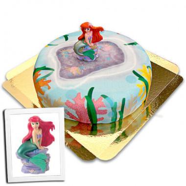 Ariel op koraal taart