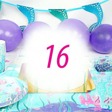 Zeemeermin party set voor 16 personen - zonder taart