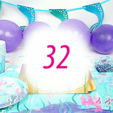 Zeemeermin party set voor 32 personen - zonder taart