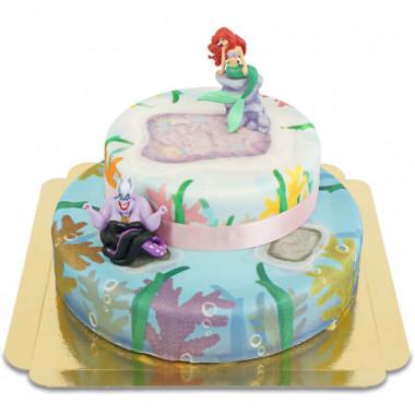Ariel op twee-verdiepingen koraal taart
