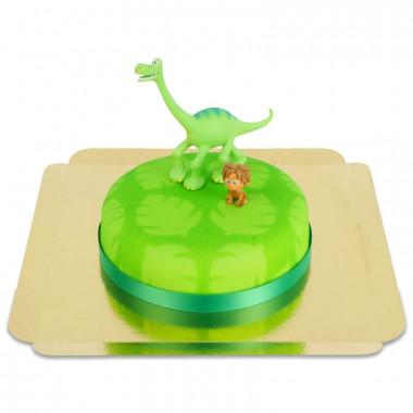 Arlo en Spot op dino taart