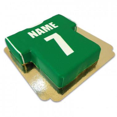 Voetbaltrui taart, groen met wit
