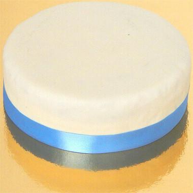 Smal effen taartenlint, Lichtblauw