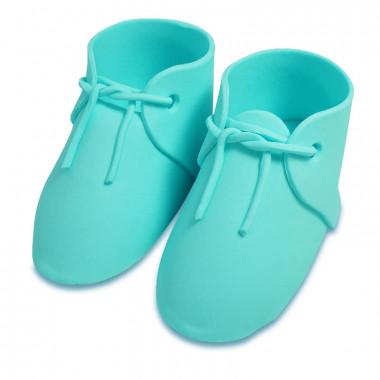 Blauwe suiker schoen