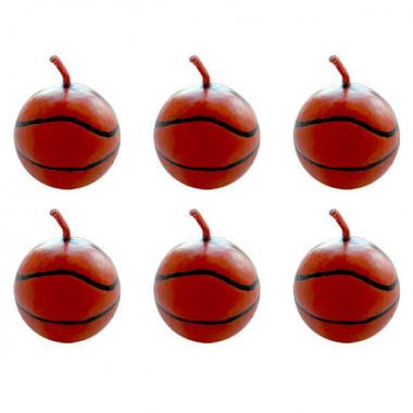 Basketbal kaarsen (6 Stuks)