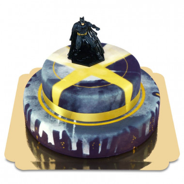 Batman op twee-verdiepingen stad taart
