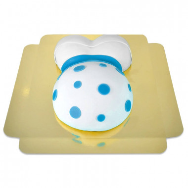 Zwangerschapstaart met blauwe accenten