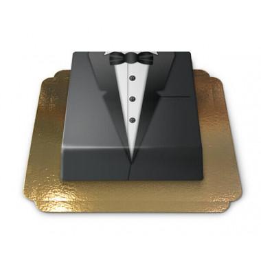 Bruidegom's taart zwarte smoking