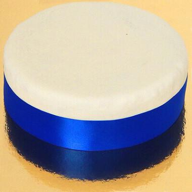 Breed effen taartenlint, Koningsblauw