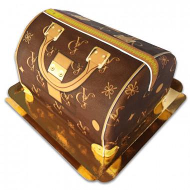 Handtassen taart VG, bruin met beige details