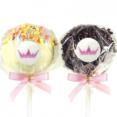 12 Cake-Pops met logo, Red Velvet & Chocolate Chip
