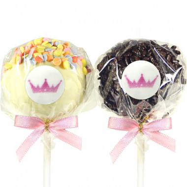 12 Cake-Pops met logo, Red Velvet & Chocolate Chip