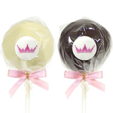 6 cake-pops met logo