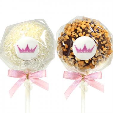 Hazelnoot & Kokos Cake pops met logo (12 stuks)