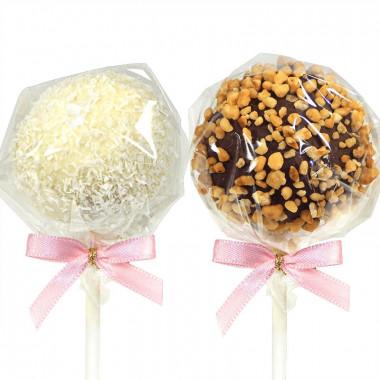 Cake pops met hazelnoot en kokos (Vanaf 12 stuks)