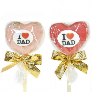 """I Love Dad"" Cake Pops"