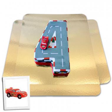 Cars Cijfer-Taart Nr. 4