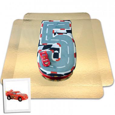 Cars Cijfer-Taart Nr. 5