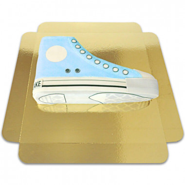 Blauwe sneaker taart