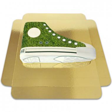 Gras patroon sneaker taart