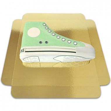 Groene sneaker taart