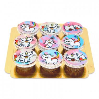 Purricorn cupcakes, 9 stuks