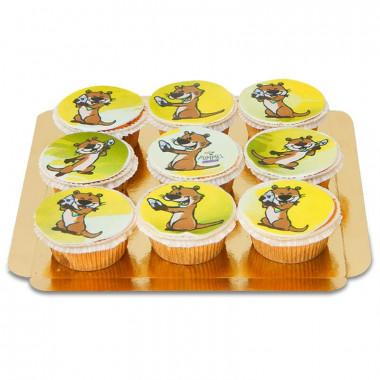 9 zoete Pummel & Friends cupcakes