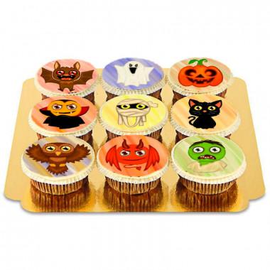 Cupcakes met Halloween-monsters