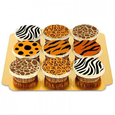 Dierlijk patroon - cupcakes