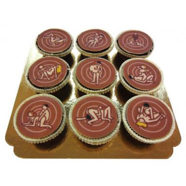 Kamasutra Cupcakes, 9 stuks