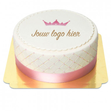 Deluxe logo-taart - dubbele hoogte