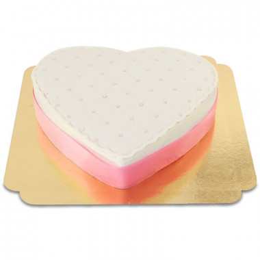Deluxe Valentijnsdagtaart in hartenvorm - verschillende kleuren
